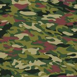 Pattern of camouflage coloring wood for uniforms, clothes. Vector illustration. Royalty Free Stock Photography