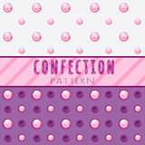 Pattern candies on a pink background Stock Photos