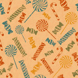 Pattern with candies Royalty Free Stock Image