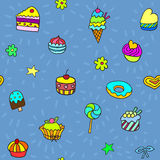 pattern with candies and sweets Royalty Free Stock Photo