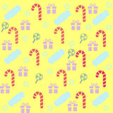 Pattern candy lollipops, sweets, gift Stock Photos