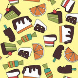 Pattern of candy Stock Images