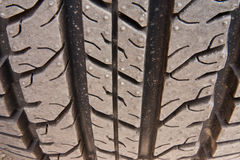 Pattern of car tire Royalty Free Stock Images