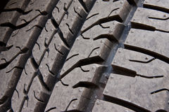 Pattern of car tire Stock Images
