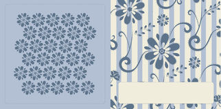 Pattern card. Vector illustration of blue pattern card for special occasions Royalty Free Stock Photography