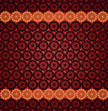 Pattern for the card of laces on the red Royalty Free Stock Photos