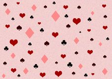 Pattern of the card shapes Royalty Free Stock Images