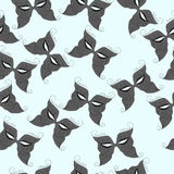 Pattern of carnival masks. Vector illustration. Drawing by hand Royalty Free Stock Photography