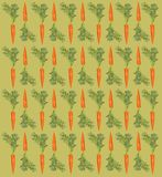 Pattern with a carrot on a beige background. Texture, design, style, vegetables, healthy lifestyle Royalty Free Stock Images