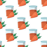 Pattern carrot juice glass. It can be used as seamless textures Stock Photo