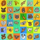 Pattern with cartoon animals design Stock Photos