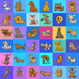 Pattern with cartoon dogs design Stock Photography