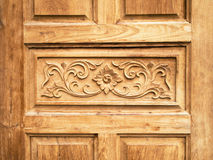 Pattern carved door Stock Images