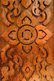 Pattern carved on wood background Stock Photo