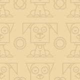 Pattern cat and dog Royalty Free Stock Images