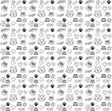Pattern cat lover vector royalty free illustration