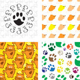 Pattern with cat and mouse Stock Photos