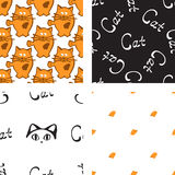 Pattern with cat and mouse Royalty Free Stock Photos
