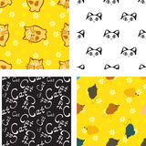 Pattern with cat and mouse Royalty Free Stock Photography