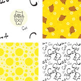 Pattern with cat and mouse Royalty Free Stock Images