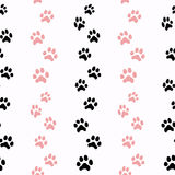 Pattern with cat traces Stock Photography
