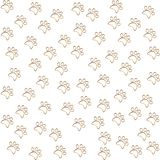 Pattern with cat tracks Stock Images