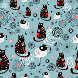 Pattern of cats Stock Photo