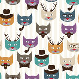 Pattern with cats Royalty Free Stock Images