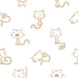 Pattern with cats. Royalty Free Stock Photography