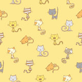 Pattern with cats. Royalty Free Stock Images