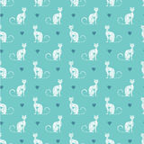 Pattern with cats Stock Photo