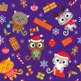 Pattern with cats Royalty Free Stock Photography