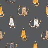 Pattern with cats. Stock Photos