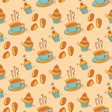 Pattern with ccupcakes Royalty Free Stock Photography