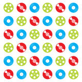 Pattern of CD and vinyl Royalty Free Stock Images
