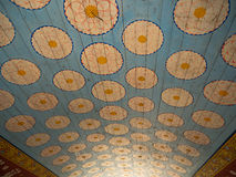 Pattern ceiling in the temple Stock Photography