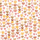 Pattern of chain of hearts. Seamless background for your design. vector illustration