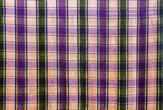 Pattern of  checkered on fabric Stock Photos