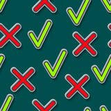 Pattern with checkmarks Royalty Free Stock Photography