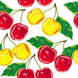 Pattern cherry Stock Photo