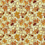 Pattern with chestnut Royalty Free Stock Image