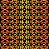 Pattern with chestnuts. Vector illustration. On a black background vector illustration