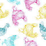 Pattern with chickens Royalty Free Stock Photo