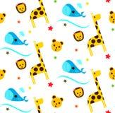 Pattern children`s animals Stock Photo