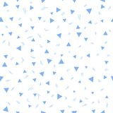 Kid pattern. Seamless pattern with small triangles on a white background. Vector repeating texture. Stock Image