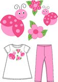 Pattern for children wear Royalty Free Stock Photos
