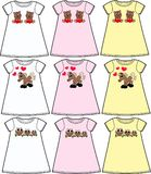 Pattern for children wear Royalty Free Stock Image