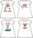 Pattern for children wear fashion Royalty Free Stock Photos