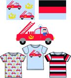 Pattern for childrens clothes Royalty Free Stock Images