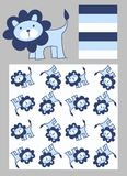 Pattern for childrens clothes. Three different pattern for childrens clothes royalty free illustration